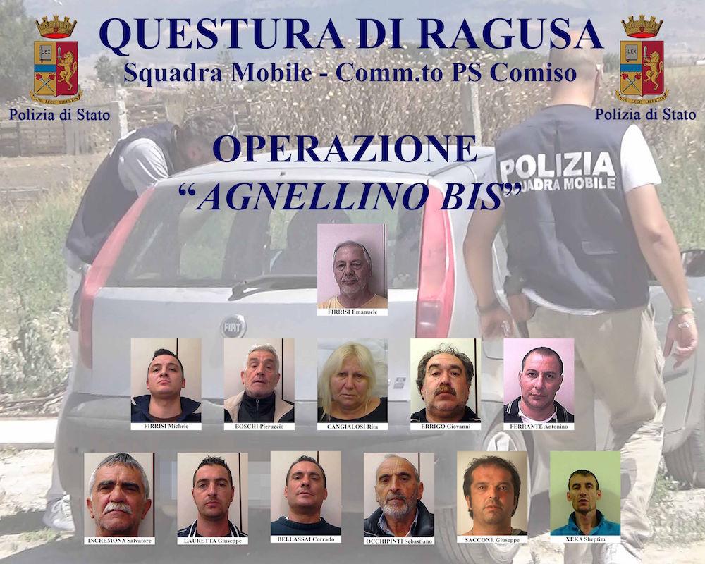 """Droga: processo """"Agnellino"""", tredici arresti nel Ragusano"""