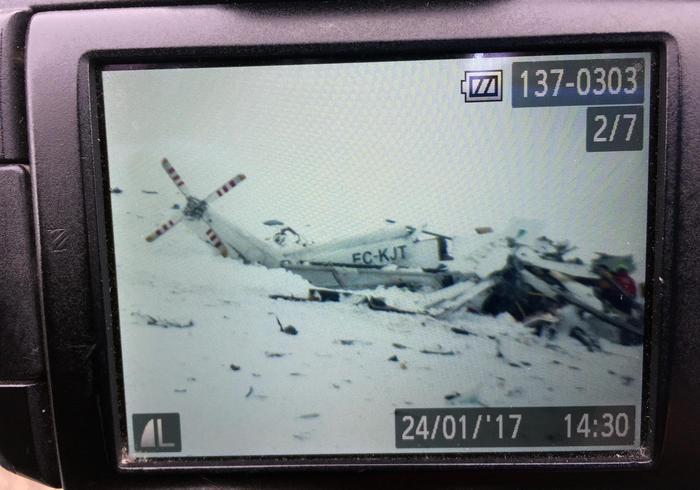 Precipita un elicottero del 118 nell'Aquilano: 6 uomini morti