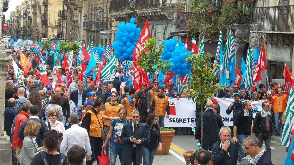 Protesta a Palermo contro il governo Crocetta,