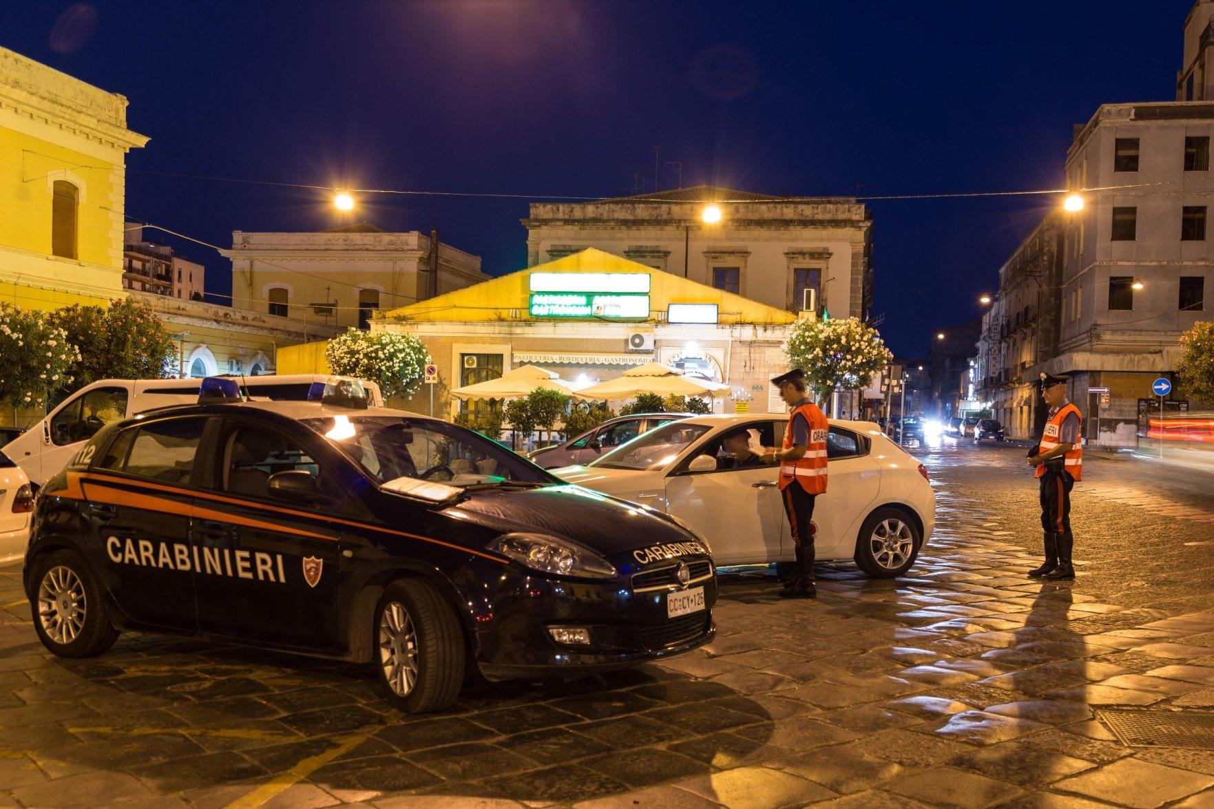 Bilancio del'attività di inizio estate per i Carabinieri in provincia di Siracusa