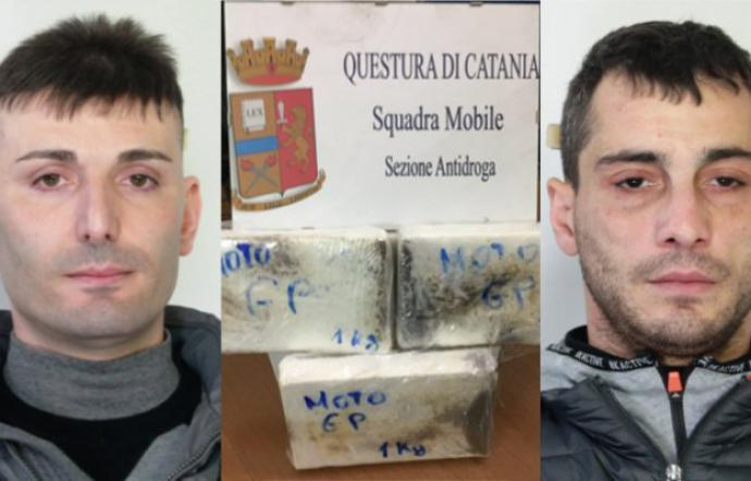 Tre chili di cocaina dalla Calabria In due finiscono in manette