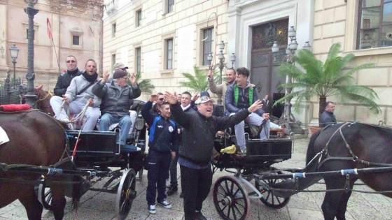 Palermo, protesta dei cocchieri contro il sindaco Orlando