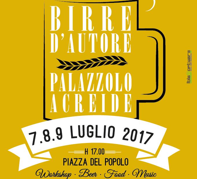 """""""Birre d'autore"""" torna a Palazzolo, tutto pronto per la II edizione"""