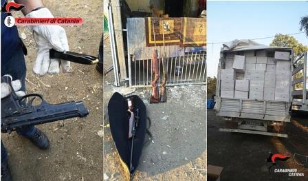 Nel Catanese scoperto maxi deposito di merce rubata: arrestati padre e figlio