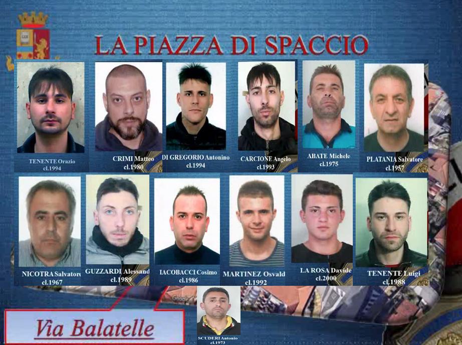 Smantellata una piazza di spaccio a Catania: 13 arresti in un blitz