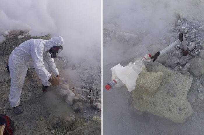 Vulcano, l'Ingv di Palermo esegue il campionamento delle fumarole