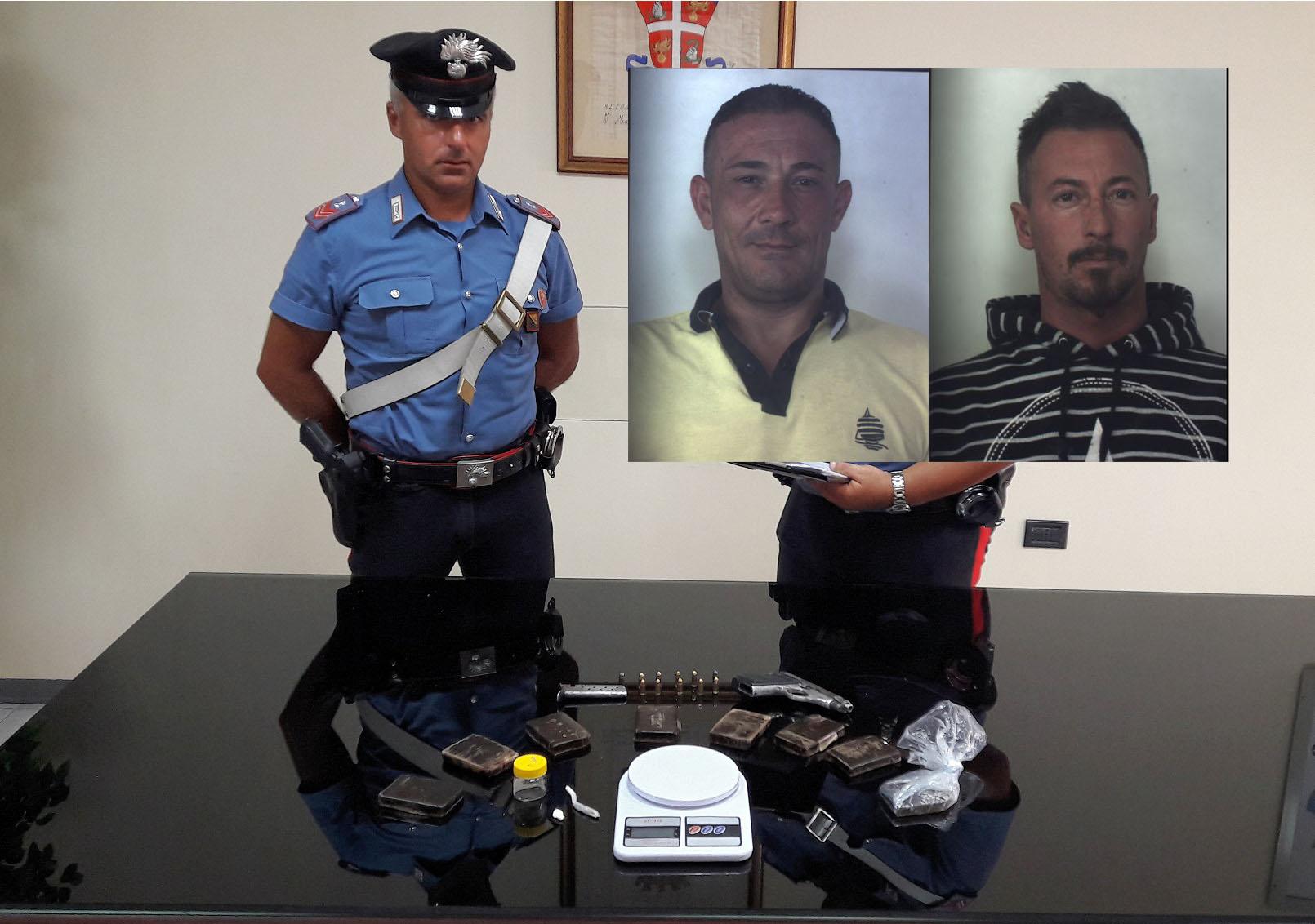 Siracusa, nascondevano  8 panetti di hashish e una pistola: due arresti