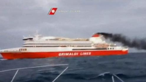 Incendio a bordo della Grimaldi, nave nel porto di Palermo