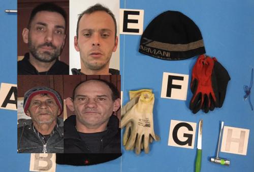Tentano di rubare in un'abitazione ad Augusta, catturati 4 catanesi