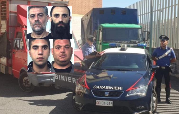 Trasportavano 18 bovini rubati, 4 calabresi arrestati a Linguaglossa