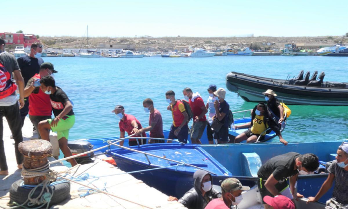 Due mini sbarchi di migranti tunisini a Lampedusa