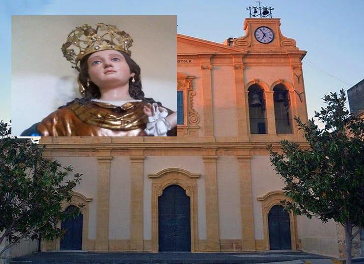Depredata la Madonna di Solarino: rubati orecchini e croce della statua