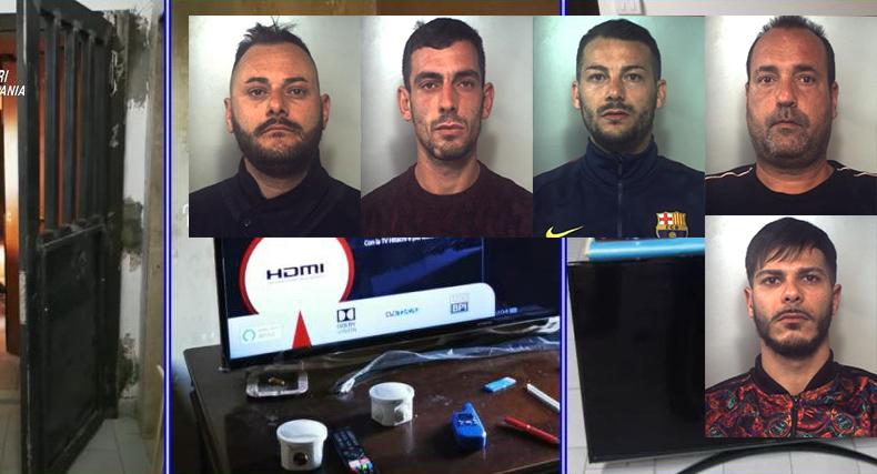 Spacciavano nel bunker di Librino: 5 arresti e sequestro di droga a Catania