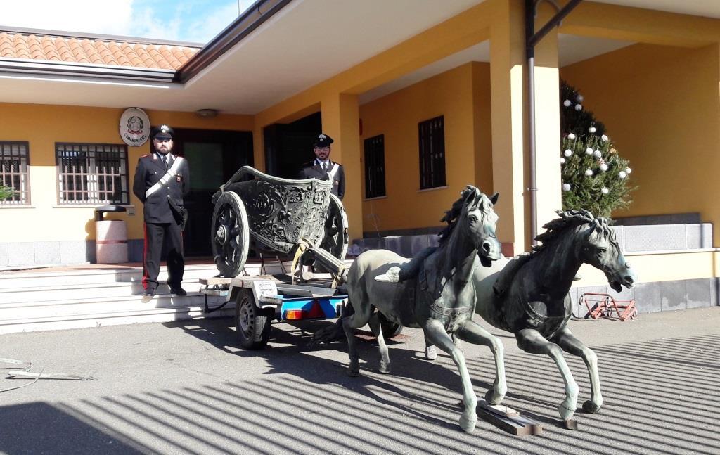 Furto di opere antiche, 17 arresti a Catania: recuperata la Biga di Morgantina