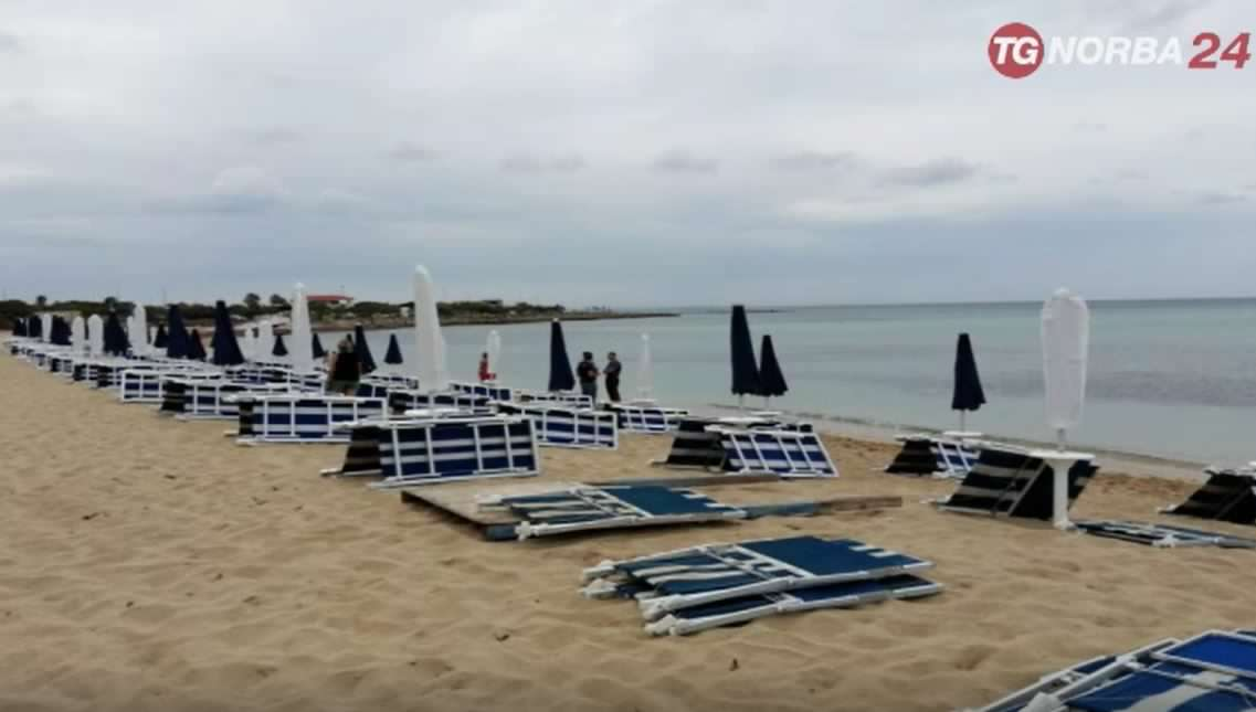 Tromba d'aria a  Porto Cesareo, paura e feriti lievi