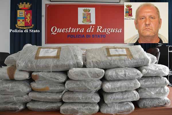 Trecento kg di marijuana sul camper