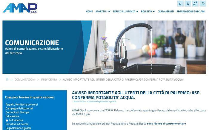 Il 'caso acqua' a Palermo, la Procura apre un fascicolo di atti relativi