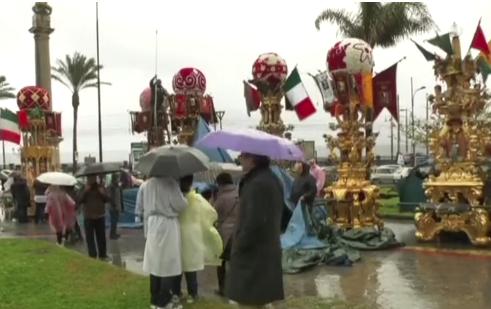 Festa di Sant'Agata, temporale su Catania: cerei in Cattedrale