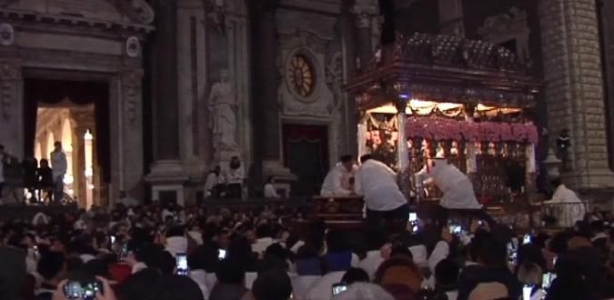 Catania, rientrato il Busto reliquario di Sant'Agata dopo la processione
