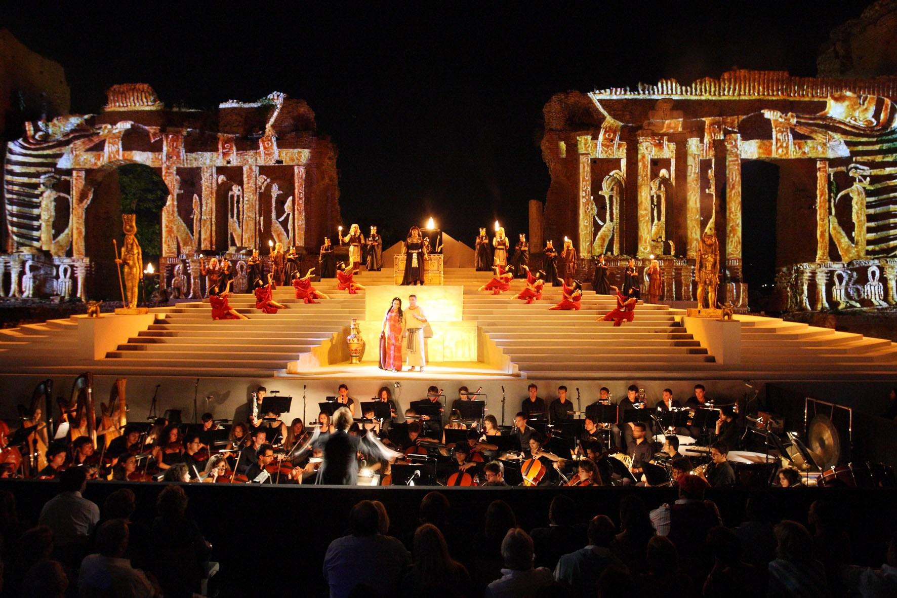 L'Aida di Giuseppe Verdi in scena al Teatro Antico di Taormina