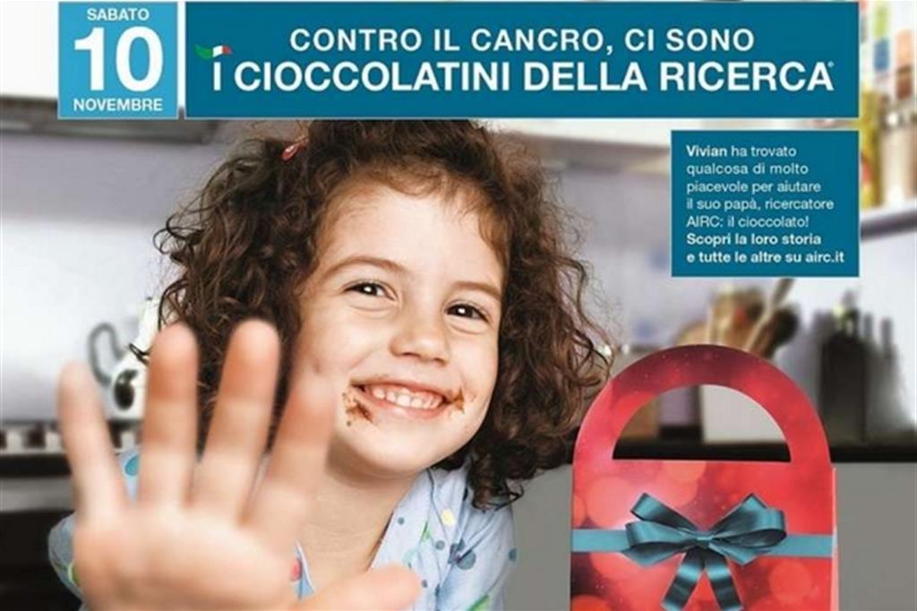 Tumori, in mille piazze italiane tornano i ' Cioccolatini per la ricerca'