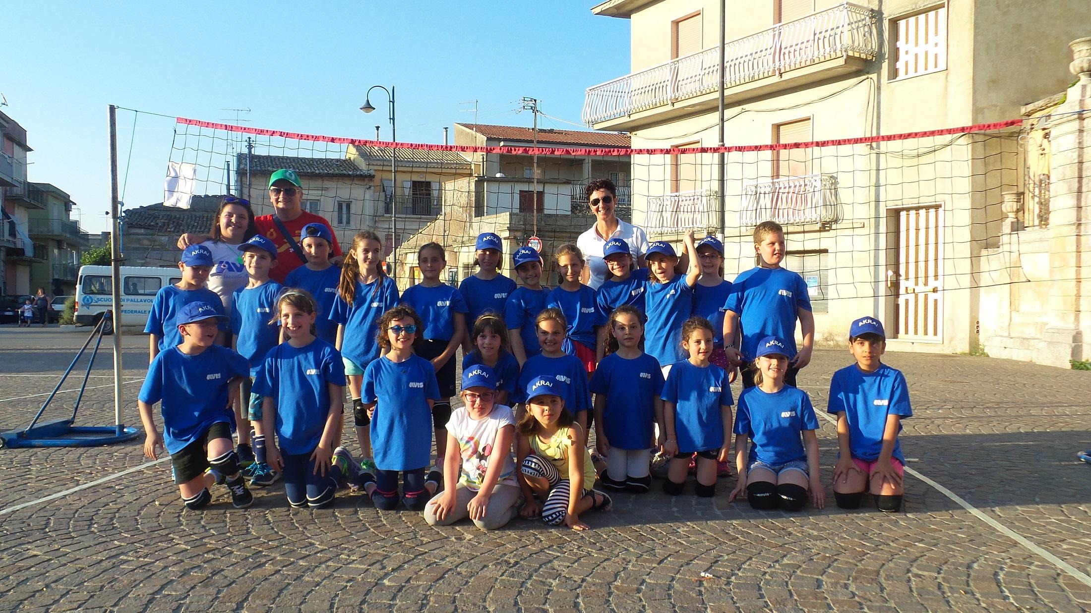 Minivolley, raduno interprovinciale a Palazzolo Acreide a piazzale Marconi