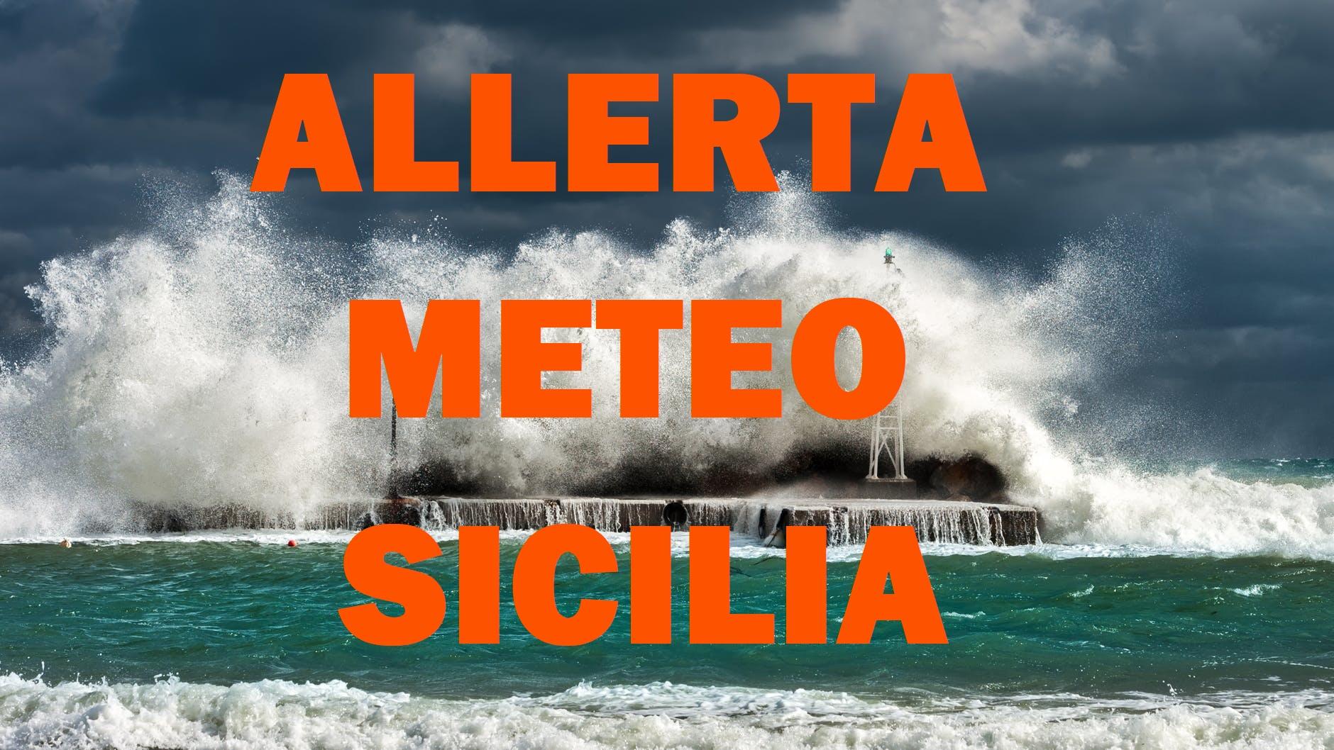 Protezione civile, allerta meteo a Catania e Palermo di colore arancione