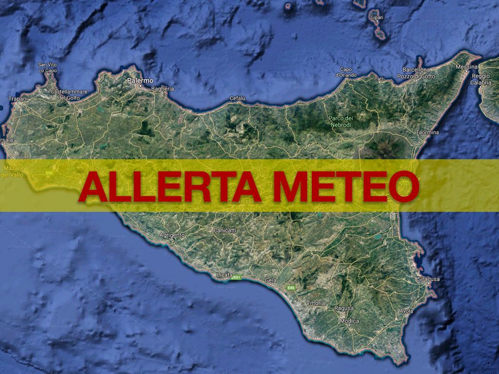 Allerta meteo domani in Sicilia, 'arancione' in parte orientale