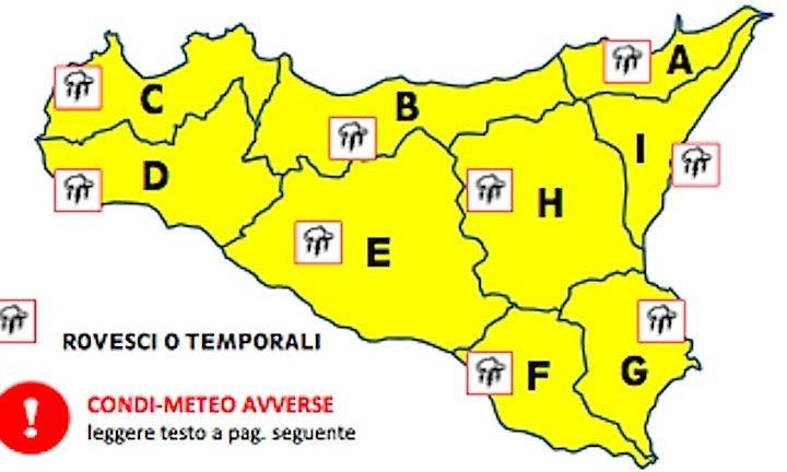 Maltempo, allerta gialla in Sicilia per freddo e vento