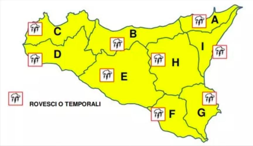 Meteo, Protezione civile dirama l'allerta gialla in Sicilia