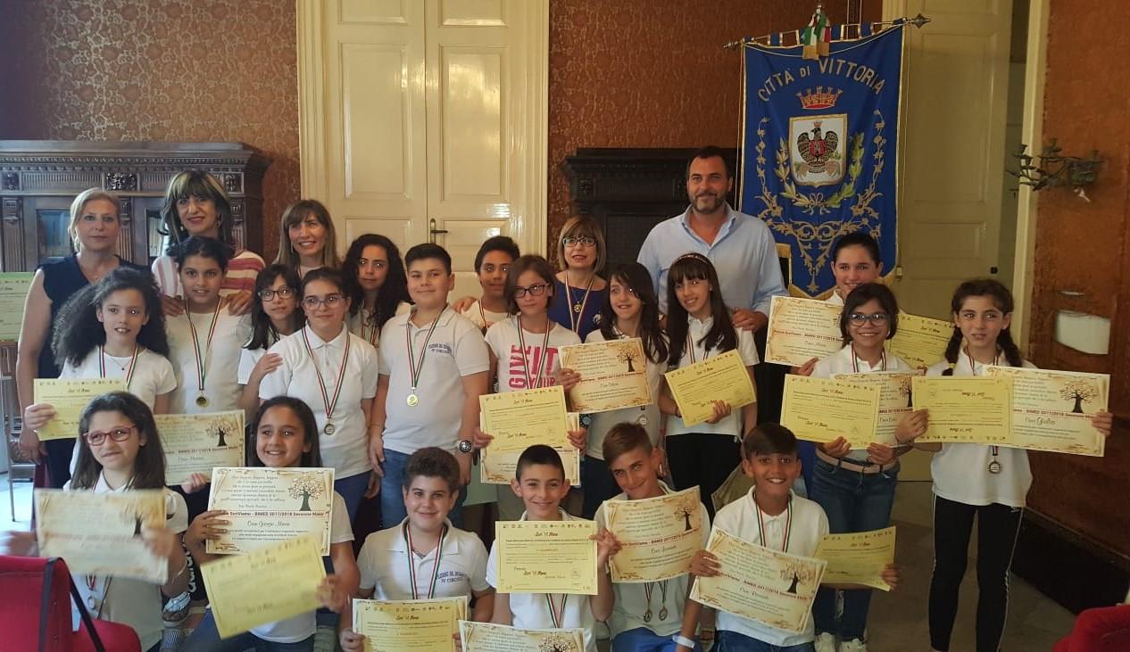 Vittoria, ricevuti dal sindaco alunni vincitori a concorso nazionale