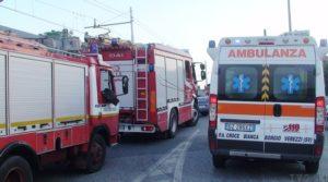Modica-Pozzallo, scontro ambulanza con mezzo dei vigili per il fumo