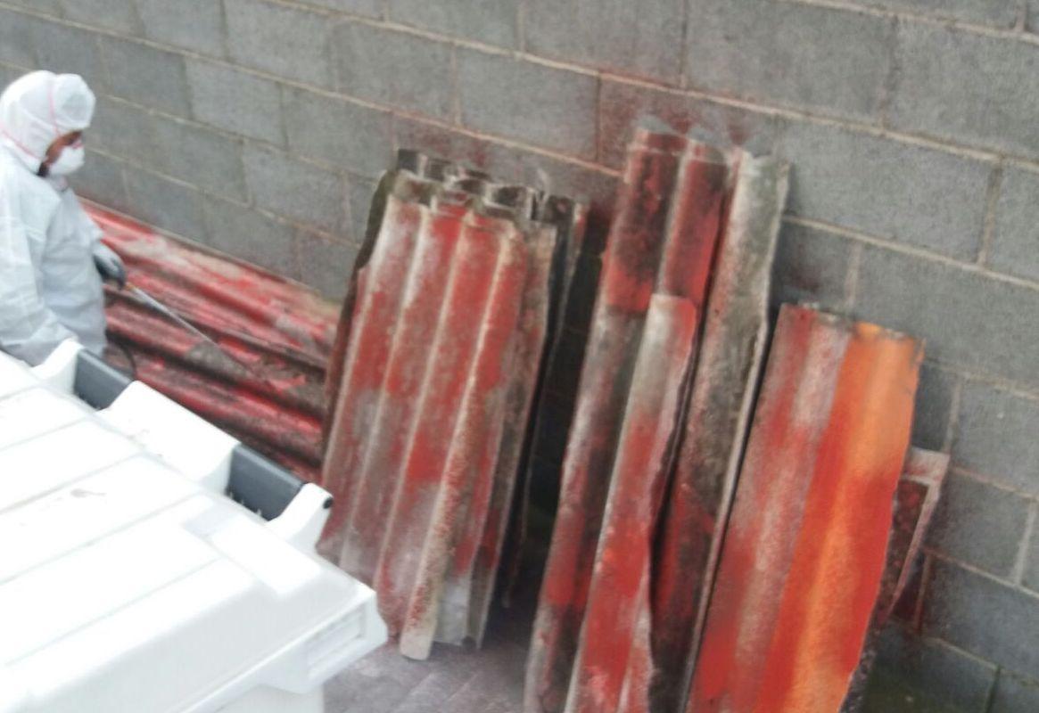 Rimosse a Catania 6 tonnellate di amianto