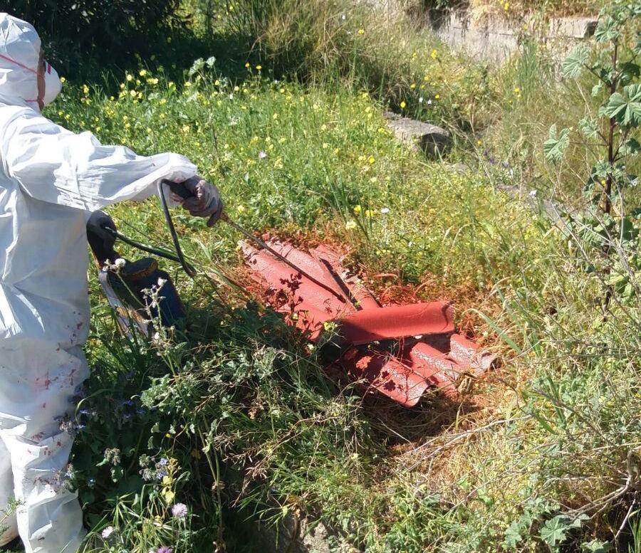 Catania, amianto: rimossi dalle vie cittadine altri 780 chili di materiale