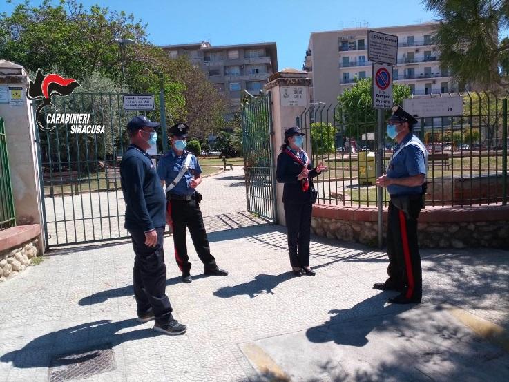 Contenimento, Carabinieri in congedo presidiano i parchi di Siracusa