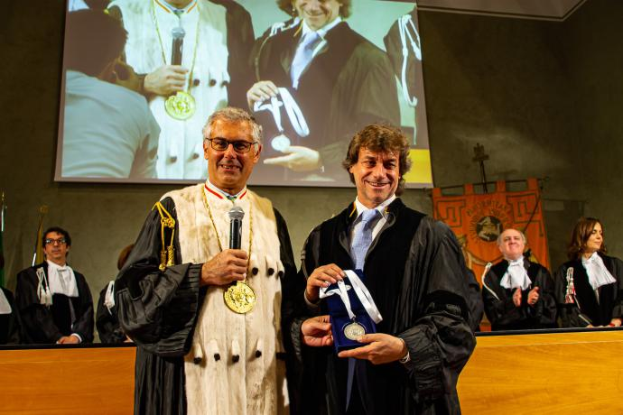 Alberto Angela all'Università di Palermo per la laurea honoris causa