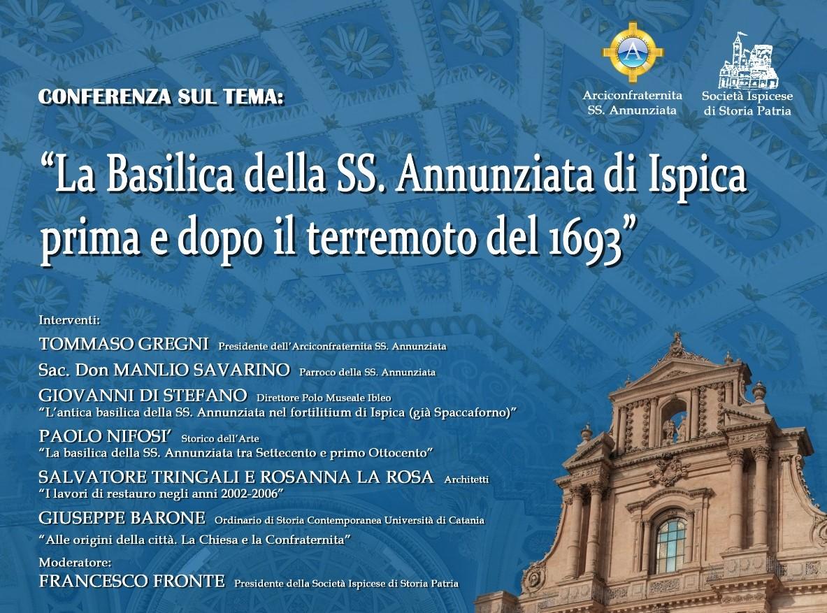 Ispica, sabato 30 un convegno storico sulla Basilica dell'Annunziata