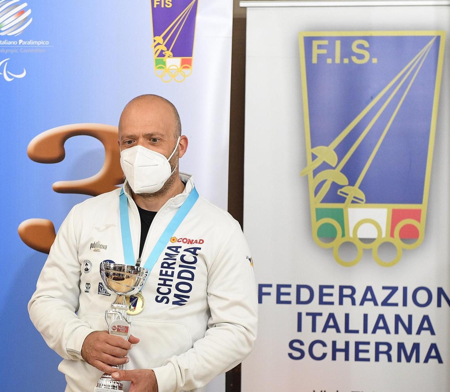 Scherma Modica, Antonio Carnazza medaglia di bronzo ai campionati italiani assoluti Spada non vedenti