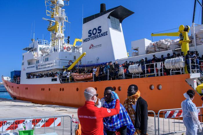 Miracle nasce a bordo della nave Aquarius diretta a Catania