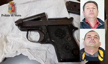Catania, trovati con una pistola con matricola abrasa: arrestati