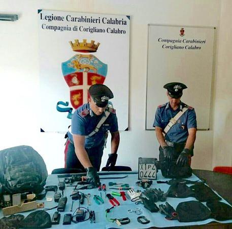 Trovati con arnesi da scasso, sei arresti a Corigliano Calabro