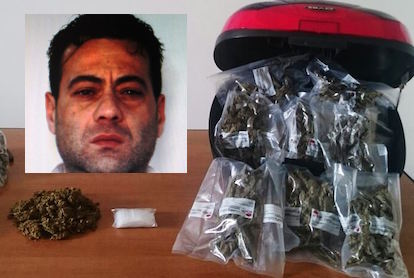 Catania, 2 chili di marijuana nascosti in un bauletto: arrestato
