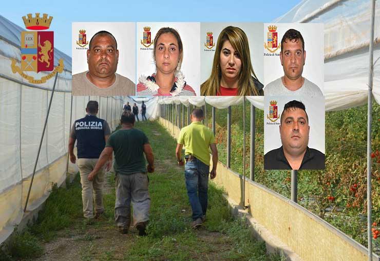 Caporalato e traffico di esseri umani, fermati 5 romeni nel Ragusano