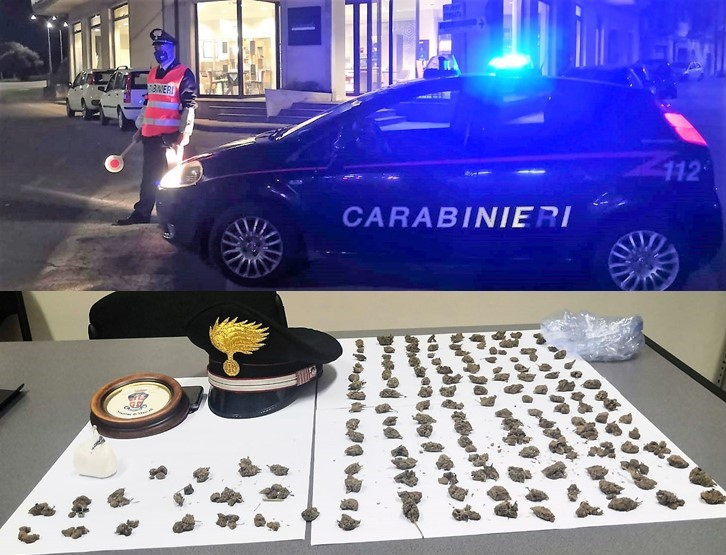 Arrestati a Mascali due diciottenni, in moto con cocaina e marijuana