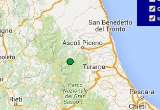 Ore 20,12: scossa di terremoto in provincia di Ascoli Piceno