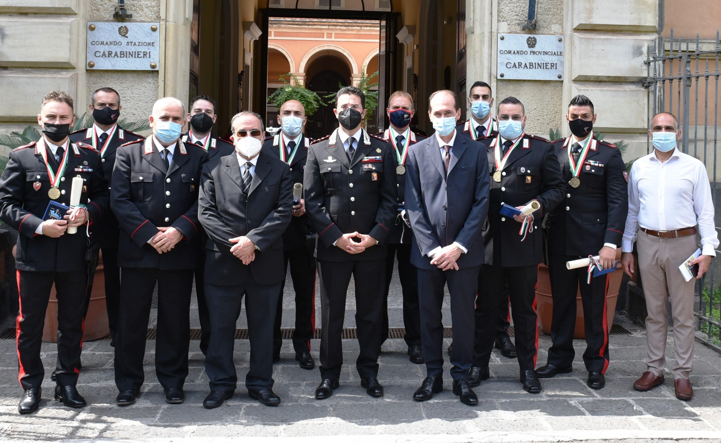 Catania, Difesa e Sicurezza: attestati ai carabinieri del comando provinciale