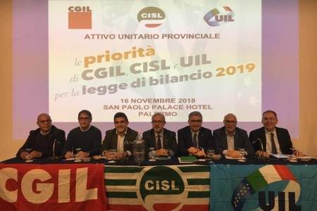 Mezzogiorno, domani a Palermo l'attivo di Cgil, Cisl e Uil
