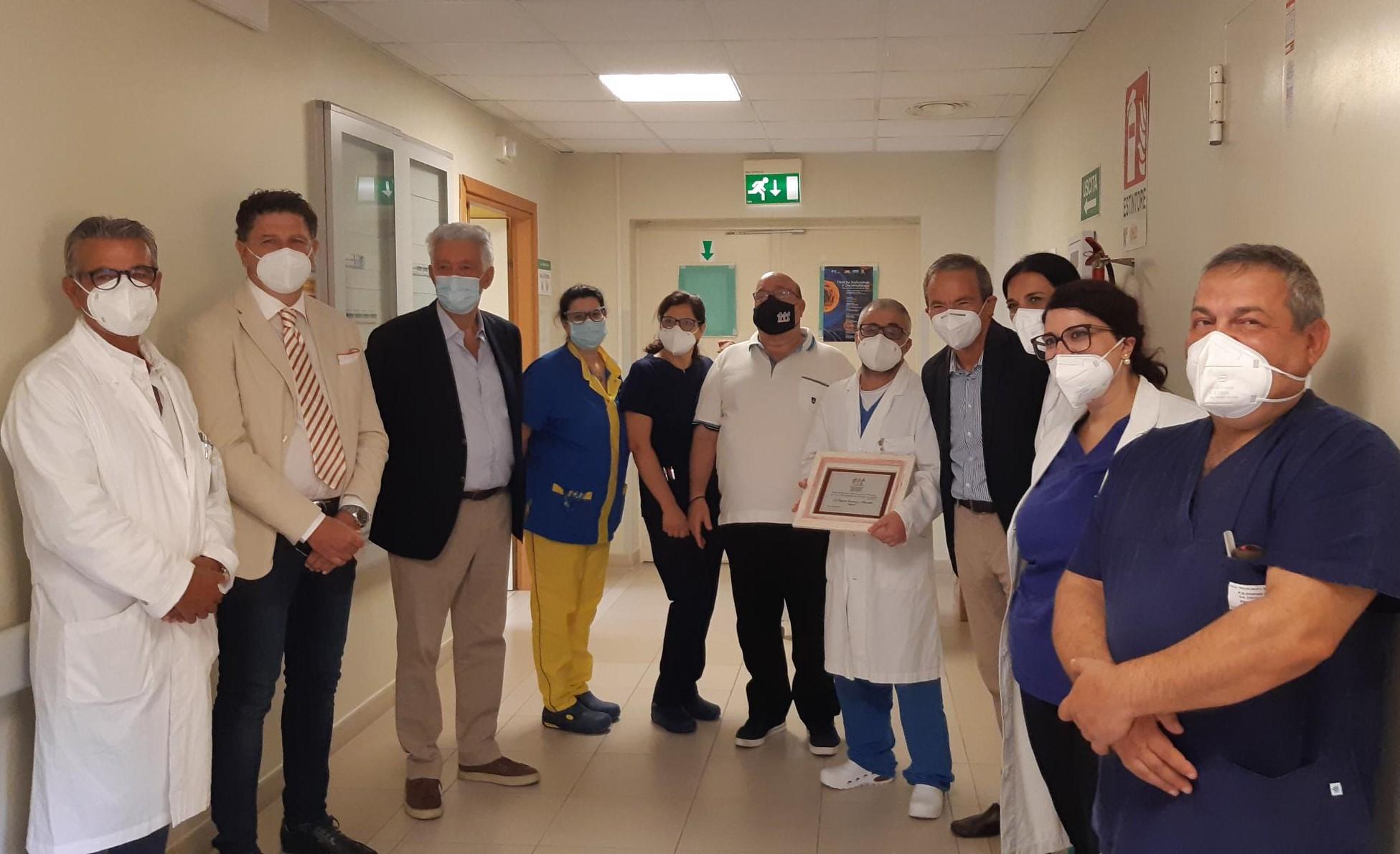 Augusta, il vicepresidente nazionale Ail in visita al reparto di ematologia dell'ospedale