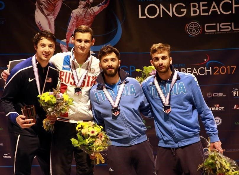 Scherma, Giorgio Avola conquista un bronzo a Long Beach
