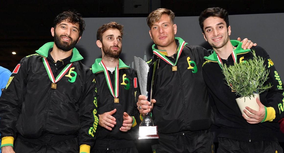 Scherma, Giorgio Avola oro a squadre ai campionati assoluti di Milano